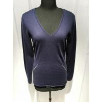 China Deep V Neck Intarsia Slim Fit Pullover ,Women Knit Pullover Sweater With Sequins on sale