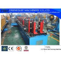 Buy 1.2mm - 3.0mm Thickness C Z Purlin Roll Forming Machine For Q195 - 235 / Hot-Zinc Coil at wholesale prices
