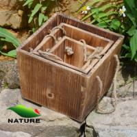 Quality Wood product » Wood planter & pot » Squared Shaped Wood Flower Planter for Garden for sale