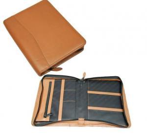 Quality leather  portfolio folder,file folder for sale