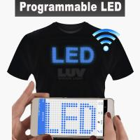 Quality Logo Bright Animation Sound Active Patch Light Tee Led Shirt For Man for sale