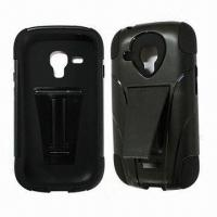 Quality Cellphone Cases for Samsung Galaxy S3 Mini I8190 with Kickstand, Made of Silicone and PC for sale