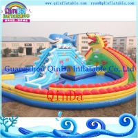 China Inflatable pool water park /portable pool water park inflatables pool with slide on sale