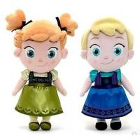 Quality Small Girls Disney Plush Toys Elsa And Anna Frozen Baby Dolls 30cm for sale
