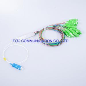 Quality Telecom Networks Fiber PLC Splitter LSZH 1x8 SC APC Connector Low PDL for sale
