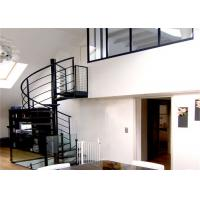 Quality Modern Stylish Tempered Glass Steps Stainless Steel Frame Spiral Stairs Curved Staircase for Villa for sale
