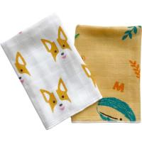 Quality Ultra Absorbent Baby Muslin Bibs 100% Cotton Face Towel Two Layers Gauze Cloth for sale