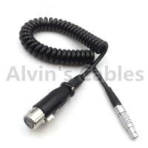 Buy cheap XLR 4 Pin Female to lemo 0b 2 Pin Male Spring Cable Power TARRI ALEXA Camera from wholesalers