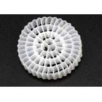 Quality Virgin HDPE Material MBBR Bio Media White Color And 25*4mm Size High Surface Area MBBR for sale