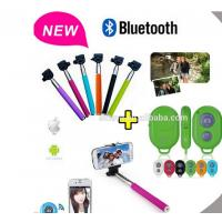Quality Selfie Stick Monopod Bluetooth Shutter Remote for iPhone / Android for sale
