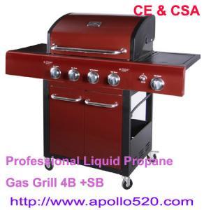China Professional Liquid Propane Gas Grill 4B +SB on sale