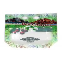 Quality Ziplock Fresh Fruit Packaging Bag Stand Up Custom Printed With Euro Hole / Zipper for sale