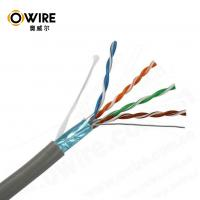 Quality OWIRE High Speed pull box of 305m 24AWG F/UTP Bulk CAT5E Ethernet Cable PASS FLUKE TEST for sale