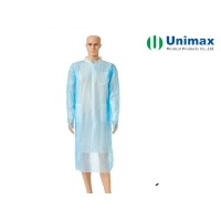 Quality 45g Disposable Non Woven Isolation Gown Beauty Salon SPA Use for sale