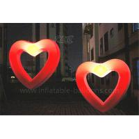 Quality Wedding Decoration Inflatable Lighting Balloon Inflatable Led Hollow Love Heart for sale