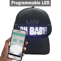 Quality DIY hot sales app customized led message cap for advertising for sale