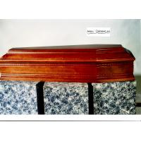 China Solid wood coffin with carve italy casket wooden urns spanish casket on sale