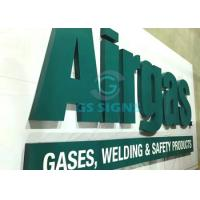 Quality Green Color 3D Lettering Signage , Dimensional Acrylic Letters For Outdoor Signs for sale