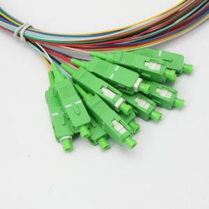 Quality SC APC 12 Core Bundled Fiber Pigtail 60dB Single Mode Optic Cable for sale