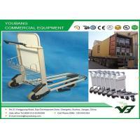 China High Capacity Lightweight airport luggage cart on wheels zinc / chrome coated wholesale