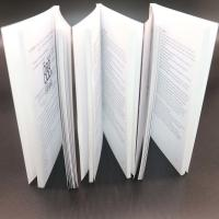 Quality Thick Adhesive Binding Saddle Stitched Booklet With Black / White Colour for sale