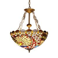 Quality Tiffany inverted pendant ceiling lights for indoor home Lighting Fixtures (WH-TF-09) for sale