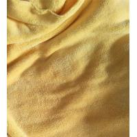 Quality 150cm Width 550gsm Microfiber Cleaning Cloth Yellow Coral Fleece 150D / 144F for sale
