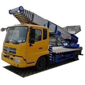 Truck Mounted Telescopic 38 Meter Platform Ladder (Ladder Truck For House Moving Goods Lift and Download Basket)