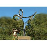 Buy Professional Stainless Steel Outdoor Sculpture , Stainless Steel Art Sculptures at wholesale prices