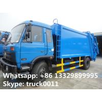 2017s best price dongfeng 12cbm garbage compactor truck for sale, hot sale dongfeng refuse garbage truck for sale