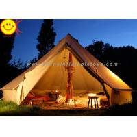 Quality Big 12 Persons Inflatable Tent Canvas Bell Tent 5 X 5M Waterproof For Wedding Party for sale