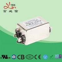 Quality 6A 1.5KW DC Line Noise Filter / LCD Power Line Signal Filter Compact Size for sale
