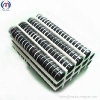 Quality NdFeB small ring magnets with black epoxy coating for sale