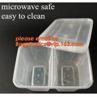 Quality Disposable Plastic 4 Compartment Food Thermal Lunch Container Box,Plastic Takeaway Food Box with conjoined cover bagease for sale
