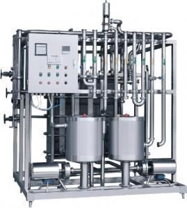 Quality Sliver Color Milk Pasteurization Equipment , Milk Pasteurisation Machine Customized Size for sale