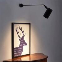 Buy cheap Industrial Black White art wall spotlights long pole picture led light (WH-OR-02 from wholesalers