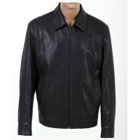 Quality Wholesale Fashion Size 52, Size 54, Black and Knitting Mens Designer Leather Jackets for sale
