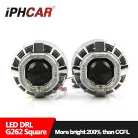 Buy cheap 12V 35W hid bulb 3.0 inch double angel eyes projector lens led angel eyes hid from wholesalers