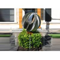 Buy Attractive Stainless Steel Sphere Sculpture / Contemporary Steel Sculpture at wholesale prices