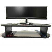 Oval Shape Computer Monitor Riser Customized Color With Cut - Out Slots