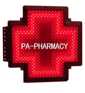 Quality PA-FARMACIA-RA Pharmacy Cross Sign Italy Farmacia Shop Double Sided Waterproof for sale