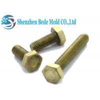 Quality Din 933 M4 M6 M10 Nuts And Bolts Brass Copper Fully Threaded Hex Bolts Customized Length for sale