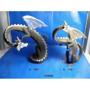 China Resin craft  resin sculpture resin decoration imitated metal dinosaur on sale