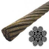 China 6 Strands Steel Wire Rope 6x7 6x9W low flexibility For Special Purpose Ropes on sale