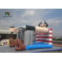 Quality PVC Pirate Theme Inflatable Jumping Castle Bouncer 4 X 3m Outdoor Grey Color for sale