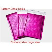 China Aluminum Foil Metallic Bubble Mailers Self Adhesive Seal  Shiny / Matte With Logo on sale