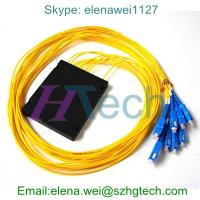 Quality 1*8 PLC Fiber Optic Coupler with SC/UPC connector for FTTH for sale