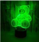 Quality 3D LED Hot Sale 3D Heart Bear Kids Night Light for Baby night light for sale