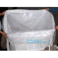 Buy China supplier 100% new material 1 ton PP bulk bag woven big bag jumbo bags with top fill skirt,pp woven ton bag pp wove at wholesale prices