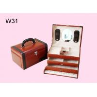 Quality Leather Wrapped Jewelry Wooden Gift Boxes With 2 Colors W31 for sale